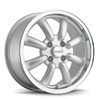 KONIG Rewind Wheel Rim 15x7 4x100 ET20 73.1 Silver Machine Lip