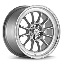 KONIG Tweakd Wheel Rim 15x7 4x100 ET35 73.1 Silver w/ Machine Face