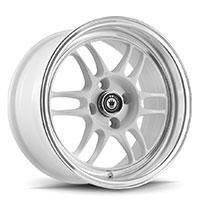KONIG Wideopen Wheel Rim 15x8 4x100 ET20 73.1 White Machine Lip