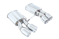 Megan Racing Axle Back Exhaust BMW F13 M6 Coupé 2013+, F06 M6 Gran Coupé 2014+ Stainless Roll Tips