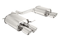 Megan Racing Axle Back Exhaust BMW F10 5 Series 2011+ Stainless Roll Tip
