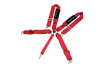Megan Racing 3 Inch 5-Point Racing Harness (Red)
