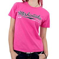 Mishimoto Women's Athletic Script T-Shirt, Pink Medium