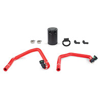Mishimoto Ford Mustang EcoBoost Baffled Oil Catch Can, PCV Side, 2015+ Red