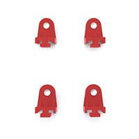 Mishimoto Plastic Fan Clips Red