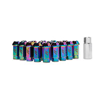 Mishimoto Aluminum Locking Lug Nuts, M12 x 1.25 NeoChrome