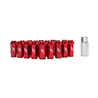Mishimoto Aluminum Locking Lug Nuts, M12 x 1.25 Red