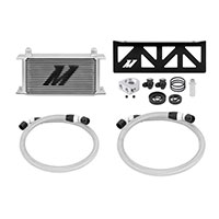 Mishimoto Subaru BRZ / Scion FR-S Oil Cooler Kit, 2013+ Silver Non-Thermostatic