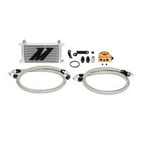 Mishimoto Subaru WRX STI Oil Cooler Kit, 2008–2014 Silver Thermostatic