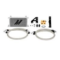 Mishimoto Subaru STI Oil Cooler Kit, 2015+ Silver, Thermostatic