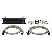 Mishimoto Universal Oil Cooler Kit Black Non-Thermostatic