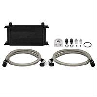 Mishimoto Universal Oil Cooler Kit, 19-Row Black Non-Thermostatic