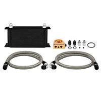 Mishimoto Universal Oil Cooler Kit, 19-Row Black Thermostatic
