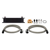 Mishimoto Universal Oil Cooler Kit Black Thermostatic