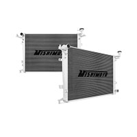 "Mishimoto 20.9"" x 33.1"" Single Pass 2-Row Race Aluminum Radiator"