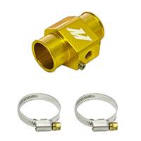Mishimoto Water Temperature Sensor Adapter - 32mm - Black, Silver, Gold Gold