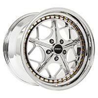 MRR AR2  Wheel Rim 18x8.5 5x114.3 ET30  73.1 Platinum Gold Rivets