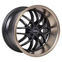 MRR AR3  Wheel Rim 16x8.5 4x100 ET20  73.1 Matte Black Bronze Lip