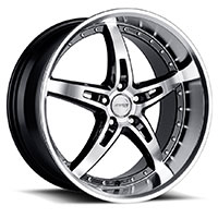MRR GT5  Wheel Rim 19x8.5 5x100/ 5x112 ET20  66.6 Black Mirror Lip