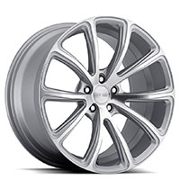 MRR HR10  Wheel Rim 19x8.5 5x100/ 5x112 ET20  66.6 Silver Diamond Cut