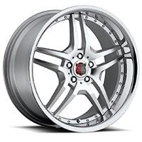 MRR RW2  Wheel Rim 18x8 5x100/ 5x112 ET25  66.6 Machined Silver with Chrome Lip