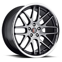 MRR RW6  Wheel Rim 19x8.5 5x100/ 5x112 ET20  66.6 Black Brushed Face with Chrome Lip