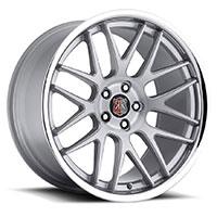 MRR RW6  Wheel Rim 19x8.5 5x100/ 5x112 ET20  66.6 Silver Brushed Face with Chrome Lip