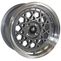 MST Fiori Wheel Rim 15x8 4x100 ET20 73.1 Gunmetal w/Machined Lip
