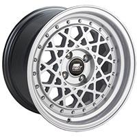 MST Fiori Wheel Rim 15x8 4x100 ET20 73.1 Silver w/Machined Lip