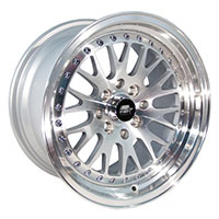 MST MT10 Wheel Rim 15x8 4x100 ET25 73.1 Silver w/Machined Face