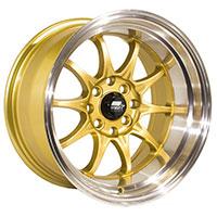 MST MT11 Wheel Rim 15x8 4x100 ET0 73.1 Gold w/Machined Lip
