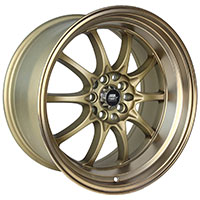 MST MT11 Wheel Rim 15x8 4x100 ET0 73.1 Satin Bronze w/Bronze Lip