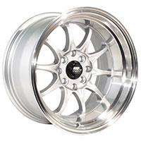 MST MT11 Wheel Rim 15x8 4x100 ET0 73.1 Silver w/Machined Lip