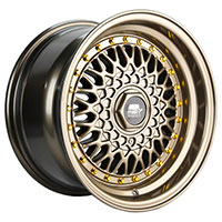 MST MT13 Wheel Rim 15x8 4x100 ET20 73.1 Bronze w/Machined Lip