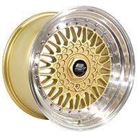 MST MT13 Wheel Rim 16x8 5x100 ET20 73.1 Gold w/Machined Lip