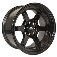 MST Time Attack Wheel Rim 15x8 4x100 ET0 73.1 Black
