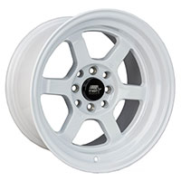 MST Time Attack Wheel Rim 15x8 4x100 ET0 73.1 Glossy White