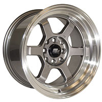 MST Time Attack Wheel Rim 15x8 4x100 ET0 73.1 Gunmetal w/Machined Lip