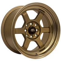 MST Time Attack Wheel Rim 15x8 4x100 ET0 73.1 Matte Bronze w/Bronze Machined Lip