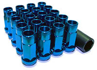 MUTEKI LUG NUTS SR48 OPEN END 12X1.25 48MM BLUE