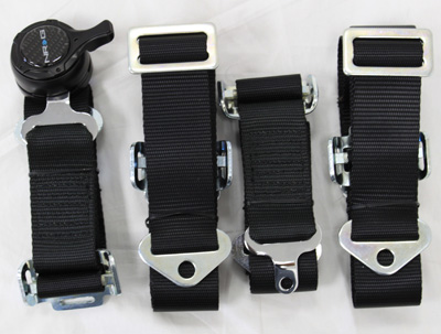 NRG  6 Pt 3inch Seat Belt Harness / Cam Lock- Black
