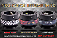 NRG  Quick Release Kit Gen 2.0 - Black Body/Black 3D Ring with 3 sticker options
