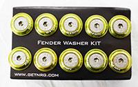 NRG  Fender Washer Kit, Set of 10, Light Green, Rivets for Plastic