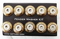 NRG  Fender Washer Kit, Set of 10, Titanium, Rivets for Plastic
