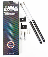 NRG Hood Damper Kit Carbon Fiber 96-00 Honda Civic