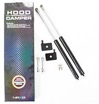 NRG Hood Damper Kit Carbon Fiber 93-97 Mazda RX7