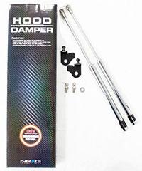 NRG Hood Damper Kit Polished 05+ Mazda 6