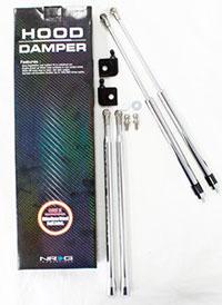 NRG Hood Damper Kit Polished 89-94 240SX S13