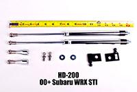 NRG Hood Damper Kit Polished 01+ Subaru WRX Sti