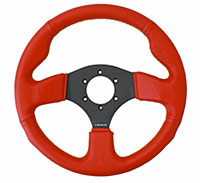 NRG  320mm Sport Leather Steerign Wheel Red leather w/ Black Stitching
